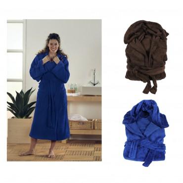 bademantel microfaser fleece kapuze morgenmantel unisex f r damen und herren. Black Bedroom Furniture Sets. Home Design Ideas
