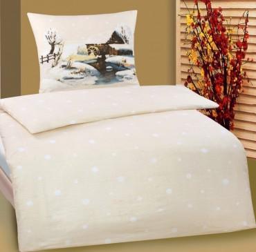 2 tlg bettw sche biber baumwolle 135x200 cm 80x80cm. Black Bedroom Furniture Sets. Home Design Ideas