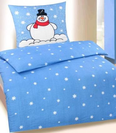 2 tlg bettw sche biber baumwolle 135x200 cm 80x80cm kotex wintermotiv b ware ebay. Black Bedroom Furniture Sets. Home Design Ideas